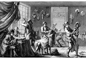 Pas très rassurant de se rendre chez le barbier avant le 19e siècle.  Non content de raser de près, il pratiquait également la saignée  et d'autres actes chirurgicaux. GETTY IMAGES