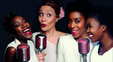 Awori, Laure Verbrègue, Lesley Reynolds et Licia Chery. DR