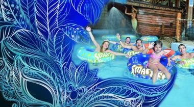 Un carnaval très mouillé au parc aquatique valaisan! PHOTOMONTAGE/DR