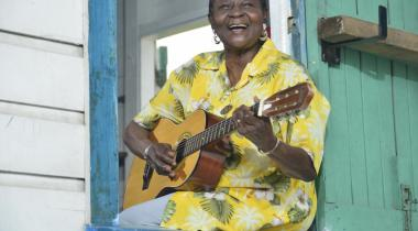 Calypso Rose, la reine du calypso endiablé. RICHARD HOLDER