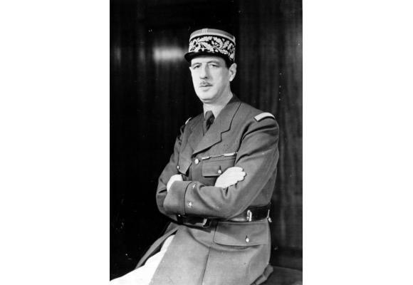De Gaulle, l'une des deux plus grandes figures  de la Cinquième République.