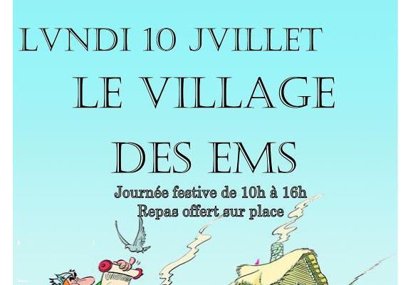 Plus de 200 personnes âgées vont vivre  une journée festive au «village des irréductibles» d'Aire-la-Ville. Ci-dessus,  les alertes octogénaires des EMS de Lancy,  en plein jardinage. DR