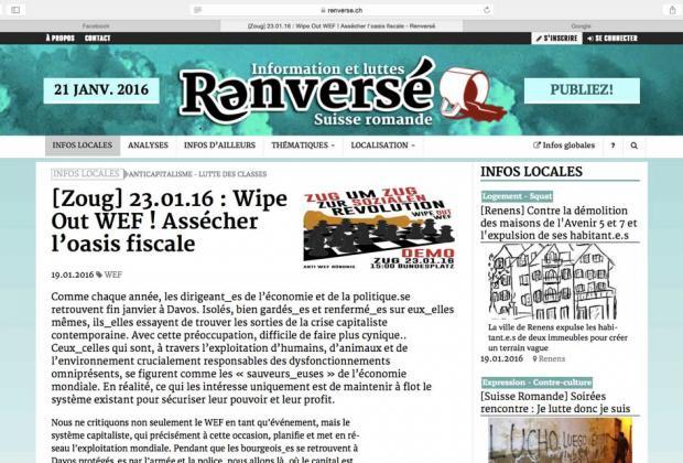 Manif' «sauvage» : après Genève, Zoug…