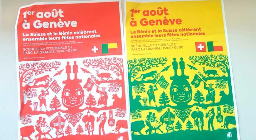 La présentation, fin juin, de l'affiche de la manifestation représentant une poya revisitée avec des symboles béninois avait déjà suscité la controverse. GiM
